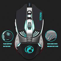 Игровая мышь мишка USB 3200DPI мышка компьютерная оптическая черная LED windows V5 Imice, фото 3