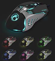 Игровая мышь мишка USB 3200DPI мышка компьютерная оптическая черная LED windows V5 Imice, фото 2