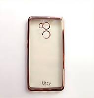 Силиконовый чехол Utty Electroplating TPU на Xiaomi Redmi 4 Pro Pink, фото 1
