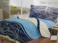 Сатиновое постельное белье евро ELWAY 028