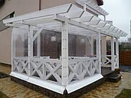 Белые прозрачные шторы ПВХ