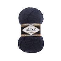 Пряжа для вязания Alize Lanagold 58 темно-синий (Ализе Лана голд)