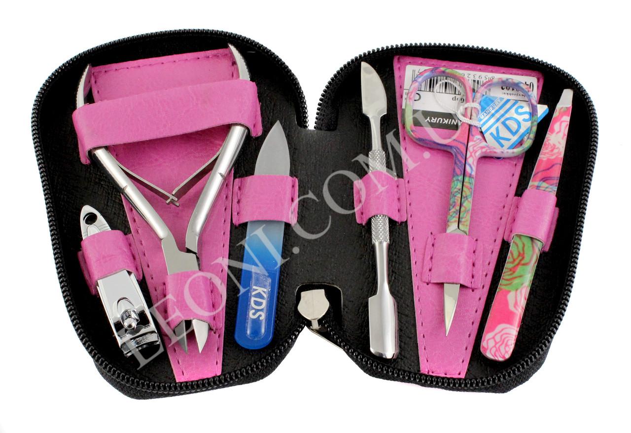 Маникюрный набор KDS 04-8103 розовый