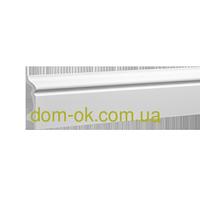 Гибкий плинтус из полиуретана, дюрополимера Европласт 1.53.107,  высота 80 мм полиуретан