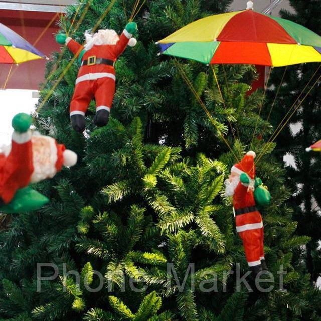Новогодняя Фигура Дед Мороз с Парашютом. Подвесной декор на улицу