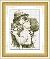 Рисование камнями Ласко на холсте TL002 Первый поцелуй (26х34см) , фото 1
