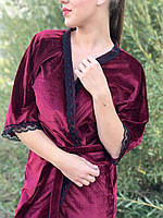 Велюровый женский халат