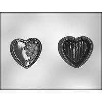 Молд для мастики и шоколада коробочка в форме сердца (код 03678)