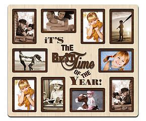 "Фоторамка коллаж  ""Best time of the year"" 51х59см., рамка для фотографий, настенный декор и подарок, фото 2"