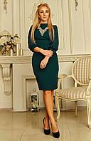 Стильное красивое женское платье с вышивкой