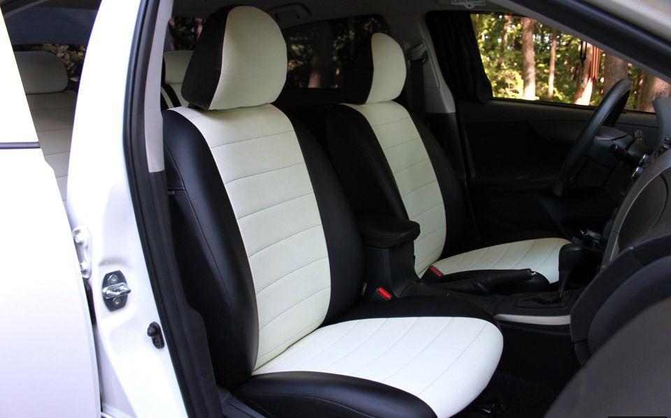 Чехлы на сиденья ВАЗ 2104 (модельные, кожзам/автоткань, пилот)