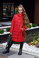 Зимняя куртка для девочки Плащевка канадана силиконе Подкладка флис Размер 134 140 146 152 В наличии 4 цвета, фото 1