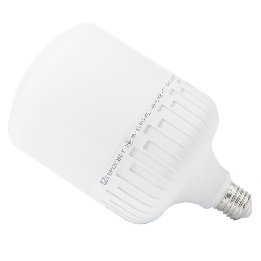 Лампа светодиодная высокомощная 40Вт 6400К EVRO-PL-40-6400-27 Е27
