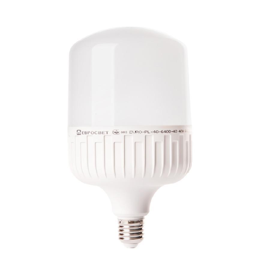 Лампа светодиодная высокомощная 40Вт 6400К EVRO-PL-40-6400-40 Е40
