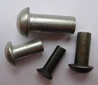 Заклепка стальная с полукруглой головкой Ф10х14-30