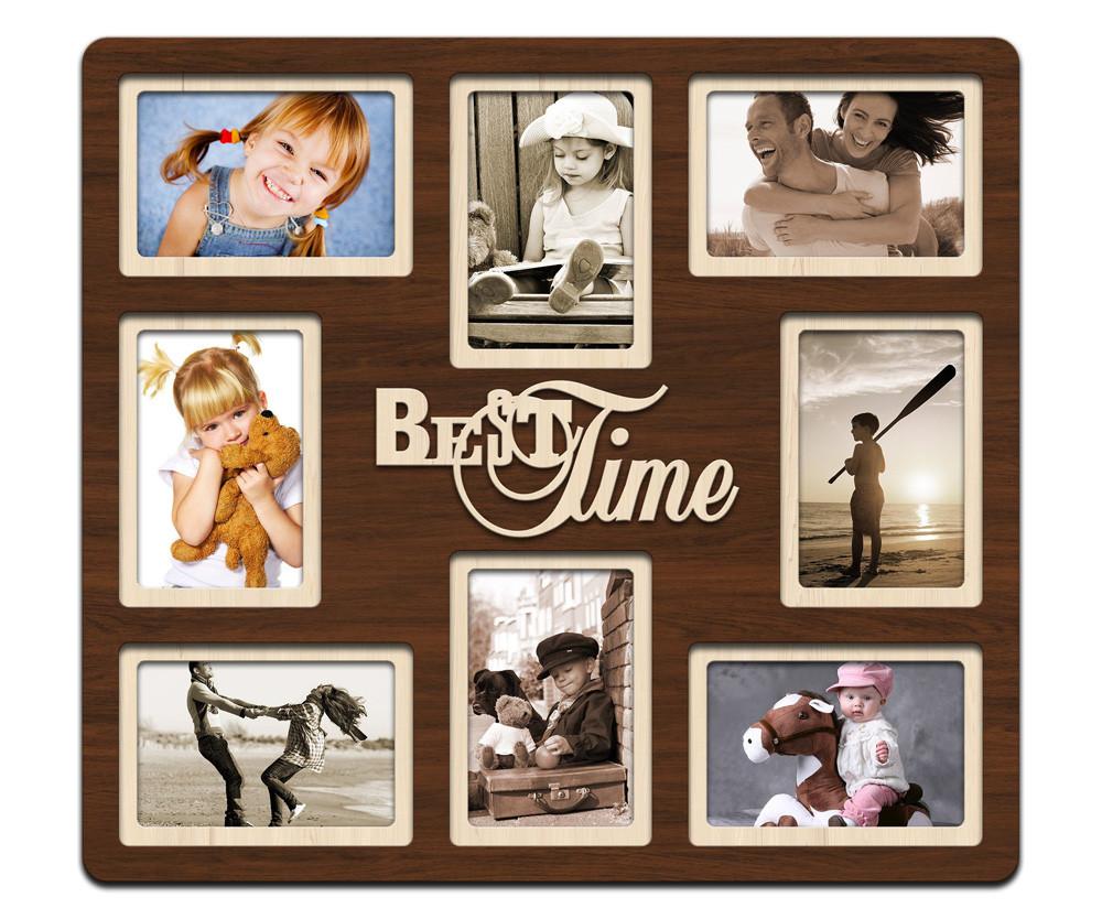 """Фоторамка коллаж """"Best time"""" 46х51см., рамка для фотографий, настенный декор и подарок"""