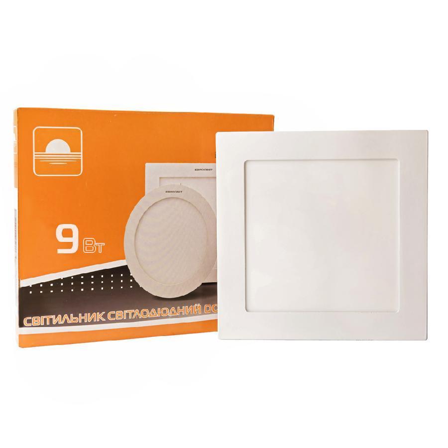 Светильник точечный врезной 9Вт квадрат LED-S-150-9 4200К
