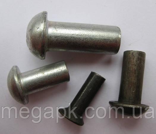 Заклепка сталевий з напівкруглою головкою Ф10х32-65