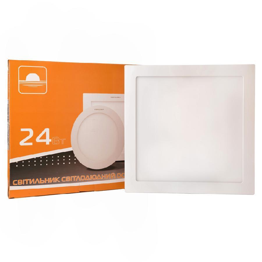 Светильник точечный врезной 24Вт квадрат LED-S-300-24 6400К