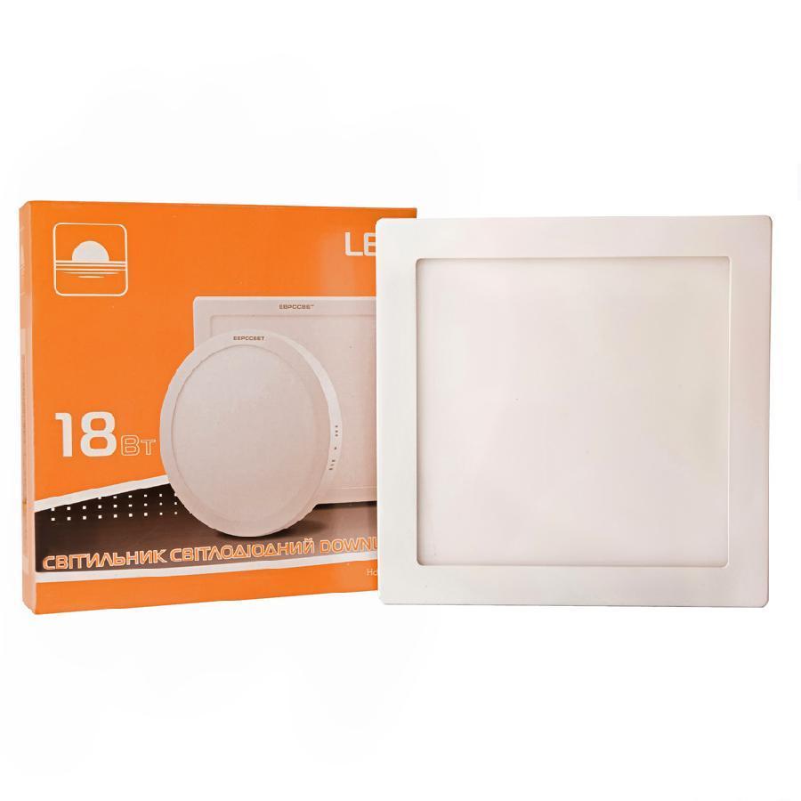 Светильник точечный врезной 18Вт квадрат LED-S-225-18 4200К