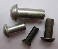 Заклепка стальная с полукруглой головкой Ф5х12-30