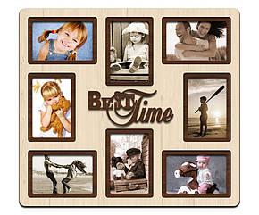 """Фоторамка коллаж """"Best time"""" 46х51см., рамка для фотографий, настенный декор и подарок, фото 2"""