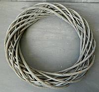 Вінок з лози сірий №24208, 35 см Венок из лозы серый