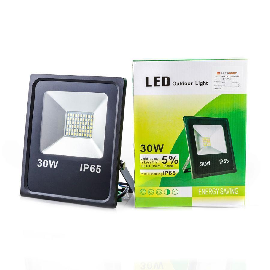 Прожектор светодиодный 30Вт 6400К EV-30-01 2100Лм SMD
