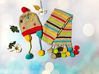 Детский комплект: шапка, шарф для девочки 9-12 месяцев, TUC TUC, Испания