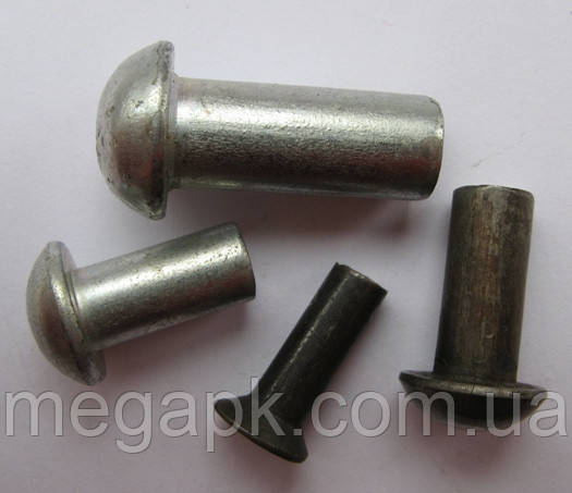 Заклепка сталевий з напівкруглою головкою Ф8х30-58