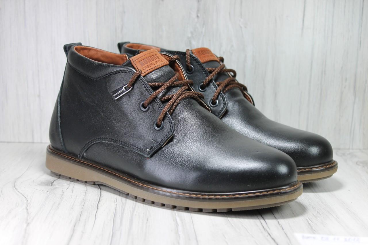 066ae7a1dc8c Классические мужские зимние ботинки без каблука натуральная кожа ...