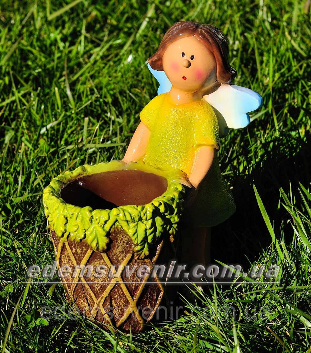 Садовая фигура цветочник Фея малая