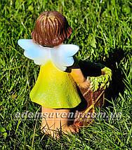 Садовая фигура цветочник Фея малая, фото 2