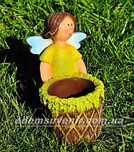 Садовая фигура цветочник Фея малая, фото 3