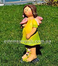 Садовая фигура Фея цветочная большая, фото 2