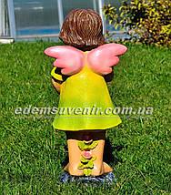 Садовая фигура Фея цветочная большая, фото 3