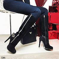 Сапоги кожаные Sergio Todzi удобном каблуке   Premium качество с 35 по  40 р.