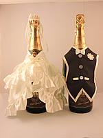 Украшение на шампанское ЖенихНевеста №2