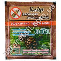 Таблетки от моли с запахом кедра Global 10 шт