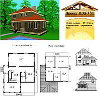 Проект дома из профилированного бруса 147 м2. Проект дома бесплатно при заказе строительства