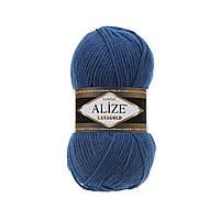 Пряжа для вязания Alize Lanagold 155 синий (Ализе Лана голд)