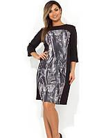 Красивое женское платье миди размеры от XL ПБ-167