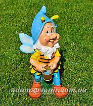 Садовая фигура Мотылек с ведром, фото 3