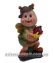 Садовая фигура Мотылек с клубникой, фото 2