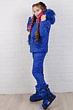 Зимний костюм для девочки Куртка и штани Стеганная плащевка на синтепоне Размер 116 122 128 134 140 146 , фото 4