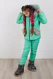 Зимний костюм для девочки Куртка и штани Стеганная плащевка на синтепоне Размер 116 122 128 134 140 146 , фото 9