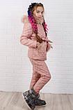 Зимний костюм для девочки Куртка и штани Стеганная плащевка на синтепоне Размер 116 122 128 134 140 146 , фото 8