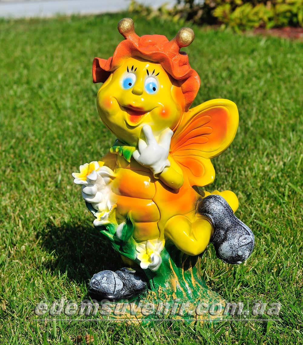 Садовая фигура Мотылек с лилией