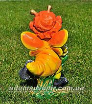 Садовая фигура Мотылек с лилией, фото 3