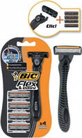 BIC Flex & Easy станок для бритья + 4 картриджа